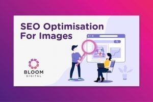 seo optimisation for images bloom digital marketing tip illustration vector