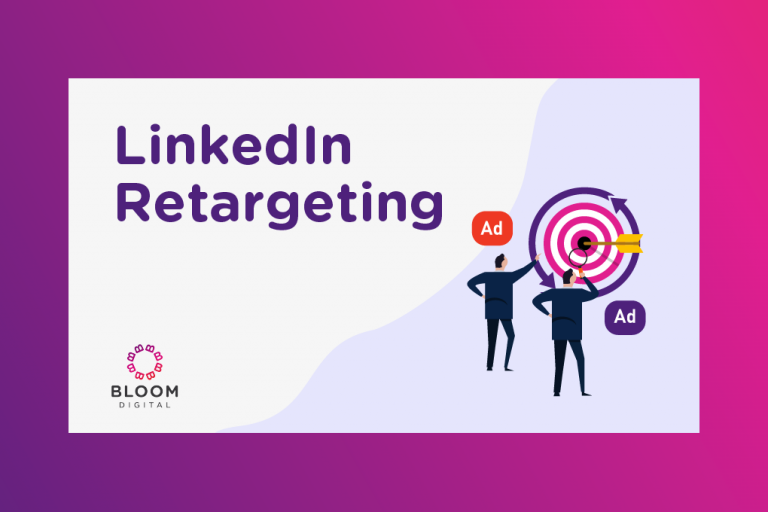 Graphic for blog post about LinkedIn Retargeting